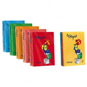 Carta colorata Le Cirque Favini - Colori forti - 80 g/mq - arancio tropico - A71E504 (risma500)