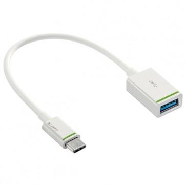 Adattatore USB-C-M_USB-F 0,15 mt Leitz - bianco - 63370001