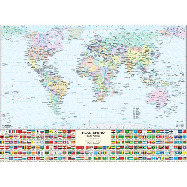 Carta geografica murale fisica e politica ITALIA Belletti 97x134 cm MS01PL