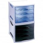 Cassettiera Intego Esselte - azzurro traslucido - 4 cassetti - 398400