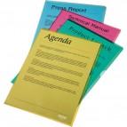 Buste a L in PVC Crystal Esselte - giallo topazio - 554310 (conf.25)
