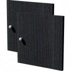 2 antine fronte & retro per libreria caselle Maxicube Nero Artexport - 32,2x32,1 cm - 2a MaxC/8