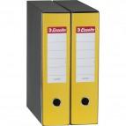 Registratori Eurofile Esselte - Commerciale - dorso 5 - F.to utile 23x30 cm - giallo - 390752090