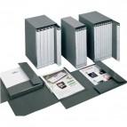 Gruppo 6 raccoglitori Delso Line Esselte - 25x32 cm - bianco/grigio - 390957040