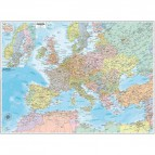 Carta geografica murale Belletti - Europa - 99x132 cm - aste in legno - M03PL/07