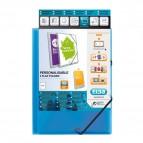 Cartella 3 lembi personalizzabile Polyvision Elba - blu - 100201152