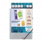 Cartella 3 lembi personalizzabile Polyvision Elba - trasparente - 100201153