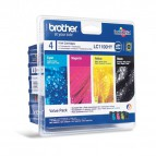 Originale Brother inkjet conf. 4 cartucce A.R. 1100 - n+c+m+g - LC-1100HYVALBP