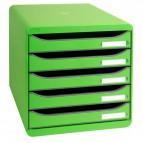 Cassettiere Big Box Plus Exacompta - verde mela - Nr. Cassetti 5 - altezza 4,5 cm - 309795D