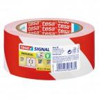 Nastro segnaletico Tesa - bianco/rosso - 50mmx66m - 58134-00000-00