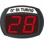 Display 2 cifre con pulsante per Kit eliminacode Printex  mini con filo eliminacode con filo - TR/DIS/2 P K