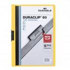 Cartellina Duraclip Durable - 6mm - Capacità 60 fogli - giallo - 2209-04