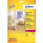 Etichette lucide invisibili Avery - 24 - ø 40 mm - 190 g/mq - L7780-25 (conf.25)