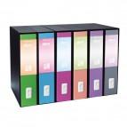 Registratori Dox 1 linea S. Francisco - Commerciale - 23x29,7 cm - rosa - D15119