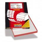 Etichette adesive Markin - 210x148,5 mm - Nr. etichette / foglio 2 - X210C509 (conf.100)