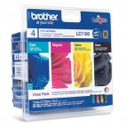 Originale Brother inkjet conf. 4 cartucce 1100 - n+c+m+g - LC-1100VALBP
