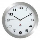 Orologio da parete Big-Big Clock Alba - grigio metallizzato - Ø 38 cm - HORISSIMO M