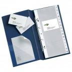 Portabiglietti da visita MC16 Sei Rota - 4 anelli, 160 biglietti - blu 15x28cm - 57091707