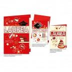 Biglietti augurali per Lauree Cromo - 3 modelli assortiti - Laurea - LA.3248 (conf.12)