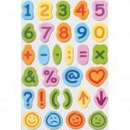 Numeri e lettere su fogli adesivi Global Notes - numeri e simboli - Q871608