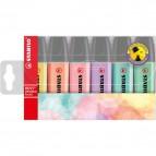 Astuccio in plastica evidenziatori BOSS® ORIGINAL - assortiti pastel - 70/6-2 (conf.6)