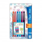 Penna con punta sintetica Flair Nylon Papermate - assortiti - Tropical - 1982103 (conf.6)