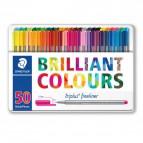 Triplus® fineliner Brilliant Colours Staedtler - 334M50 (conf.50)