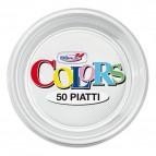 Stoviglie monouso in plastica colorata DOpla - trasparente - Piatti frutta - Ø 17 cm - 01928 (conf.50)