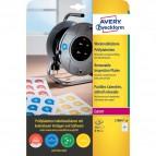 Bollini adesivi di ispezione stampabili Avery - diam. 30 mm - 24 - L7804-10 (conf.10)