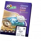 Etichette sagomate cornice Tico - oro - 45x21 mm - 48 - GL4-4521 (conf.100)