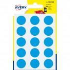 Etichette rotonde in bustina Avery - blu - diam. 19 mm - 15 - PSA19B (conf.6)
