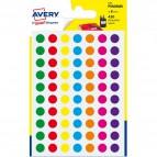 Etichette rotonde in bustina Avery - misti - diam. 8 mm - 70 - PSA08MX (conf.6)