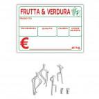 Kit segnaprezzi Rotolificio Pugliese - 145x105 mm - bianco - SEGN01BL (conf.10)