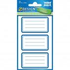 Etichette adesive per libri ZDesign by Avery - cornici - 59286 (conf.3)
