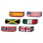 Bustina portamatite BKL+Flags Riplast - 23,5x8,5 cm - assortiti - 690608.S (conf.6)