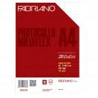 Fogli protocollo filigranati Miliaflex Fabriano - per stampanti - 125 g/mq - 02101125 (conf.250)