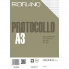 Fogli protocollo Fabriano - standard - rigato commerciale - 66 g/mq - 02910566 (conf.200)