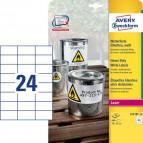 Etichette in poliestere Avery - laser - bianco - 70x37 mm - et/ff 24 - L4718-20 (conf.20)