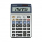 Calcolatrice da tavolo EL-337C a 12 cifre Sharp - grigio - SH-EL337C