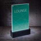 Porta-avvisi da tavolo a LED Luminous Sigel - A5 - TA422
