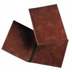 Cartella portadocumenti similpelle Munari - 25x35 cm - marrone bruciato - 20300MU23CT