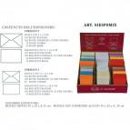 Espositore biglietti e buste colorate Ellebi Sadoch - 30x28x15 cm - assortiti - 84EXPOMIX