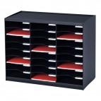 Sistema di smistamento corrispondenza Paperflow - 24 scomparti - nero - 67,4x30,8x54,8 cm - 802.01
