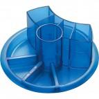 Portaoggetti girevole Tecnostyl - blu trasparente - AT1/6