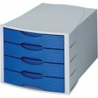 Cassettiera Monitor HAN - grigio/blu - 4 cassetti - 1001-K-14