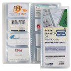 Portabiglietti da visita personalizzabile Favorit - 6x10 cm - 60 - 60 - trasparente - 100460553
