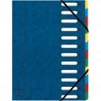 Libro monitore Harmonika®  Exacompta - 12 divisori - blu - 55122E