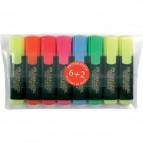 Evidenziatore Textliner 48 Refill Faber Castell - assortiti - 1-5 mm - 154862 (conf.6+2)