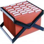 Archivio portatile LuXor Bertesi - Completo di 10 cartelle Avana - 39 cm - LUXOR4AV10P1