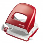 Perforatore Leitz 5008 - rosso pastello - 5008-03-25